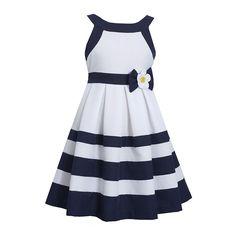 Bonnie Jean® Nautical Dress - Girls found at Little Girl Dresses, Girls Dresses, Nautical Dress, Nautical Party, Resort Dresses, Kids Frocks, Bonnie Jean, Colorblock Dress, Striped Dress