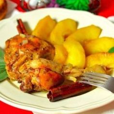 Chicken with apples and sage. Recipes with photos.