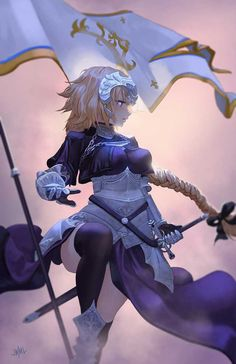 Joan of Arc (Fate/Apocrypha) Image - Zerochan Anime Image Board Fanarts Anime, Manga Anime, Joan Of Arc Fate, Character Art, Character Design, Fate Stay Night Series, Anime Drawing Styles, Anime Warrior, Sexy Drawings