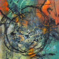 "Doris Vasek, March 8, 2015, 6""x6"", Oil Abstract"