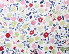 Flower textile design www.