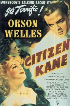 vintage movie poster:  citizen kane