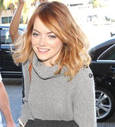 Yeah, I'm going to need this hair. Oh No They Didn't! - Emma Stone Looking Pretty & Comfy at LAX & FJK