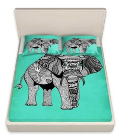 I discovered this Pam Gallegos- Pom Graphic Design's 'Elephant of Namibia Color' | Designer Unique Bed Sheets on Keep. View it now.