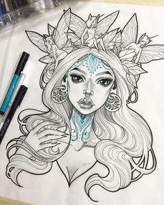 I'm tempted to keep adding tattoos to her but since I haven't worked those out…