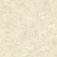Light Green Bayley Scroll  Wallpaper
