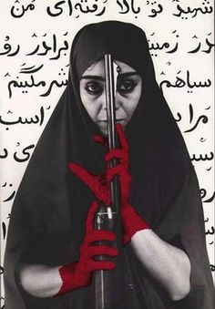 Shirin Neshat: Visionary Iranian Artist - Shirin Neshat is an Iranian visual artist who lives in New York City. She is known primarily for her work in film, video and photography. Shirin Neshat, Pop Art, Iranian Art, Political Art, Arabic Art, Collage, Feminist Art, Human Condition, Fine Art Photography