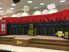 Main Stage Decorations -Wilton Baptist Church Montevallo AL Hero Central VBS