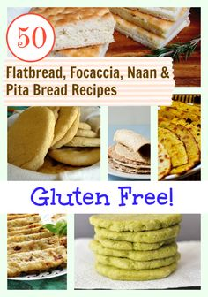 A Bountiful Bread Basket series continues on gfe with Gluten-Free Flatbread, Focaccia, Naan & Pita Bread Recipes! You will be amazed! #glutenfree #grainfree