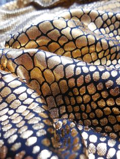 Gold Snakeskin Legging Glitter on Black Scales by 3rdEyeSupply, $25.00
