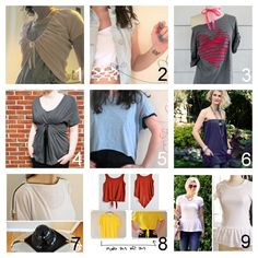 DIY  for tee shirts | roundup of nine easy diy tee shirt restyle tutorials part one by ...