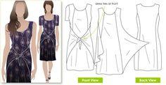 Celine Dress Sewing Pattern By Style Arc