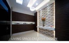 ✪ ampang saujana  #shoe cabinet #foyer #feature wall #modern