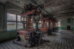 Abandoned weaving mill #urbandecay #weaving #looms