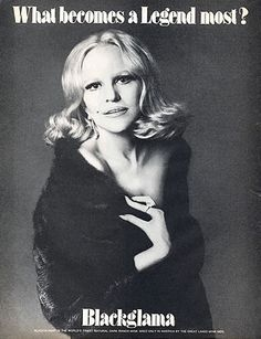 """Peggy Lee - Blackglama Mink """"What Becomes A Legend Most?"""" Ad Campaign (1974)."""