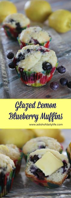 These glazed lemon blueberry muffins, made with a premium imported butter, are melt in your mouth good...perfect for breakfast, brunch or snack time!  #sponsored #FinlandiaButter #ButterMeUp