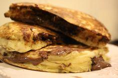 Kjøkkenkroken: Amerikanske pannekaker med Nutellafyll