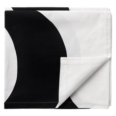 Kaivo table cloth, White/Black, Marimekko