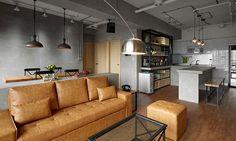 Индустриальный интерьер в квартире