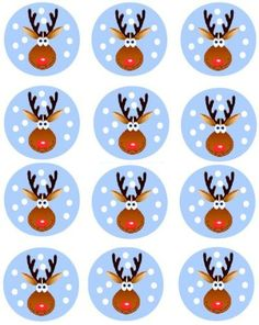 24 Rudolph Reindeer Christmas Cupcake Decoration Cake Toppers Pre Cut Xmas for sale online Christmas Quiz, Christmas Rock, Reindeer Christmas, Christmas Images, Christmas Holidays, Christmas Wreaths, Christmas Crafts, Xmas, Christmas Ornaments