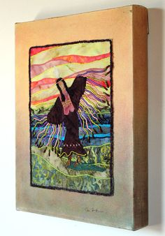 Native American Wall Hangings quilted wall hanging of native american jingle dress dancer | wall