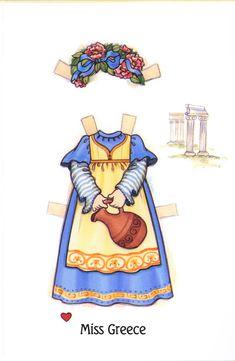 (⑅ ॣ•͈ᴗ•͈ ॣ)♡                                                             ✄Valentine Paper Doll Cards - National Costumes 3