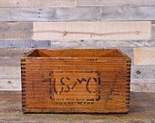 Vintage Wood Box, USMC Wood Crate, Wooden Crate, Ansonia, Connecticut