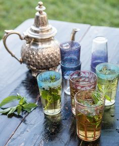 #KitchenRevelry   It's a beautiful morning...I'm working outside with homemade Moroccan herb tea (so easy to make).