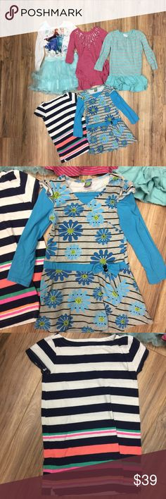 EUC Bundle of 5 Dresses all fit like Sz 5t EUC Bundle of 5 Dresses all fit like Sz 5t • some dresses include the brand gap, crew cuts, and Disney • some pilling on frozen dress, please look at pictures closely Dresses Casual