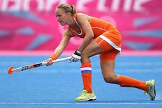 Maartje Paumen of Netherlands in action.