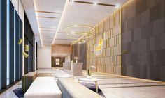 Hotel lobby in Saigon. EQUITONE facade panels. equitone.com