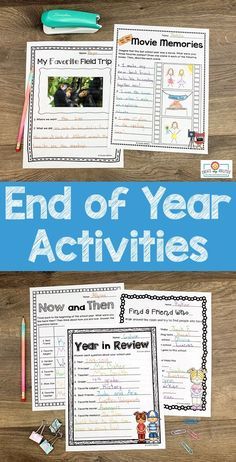 "End of Year Activities for 3rd, 4th, or 5th grade - Use this 38 page pack in your upper elementary classroom to celebrate the #EndOfYear. These printables are fun, engaging, and keep students motivated on those last days. You get autograph pages, favorite books list, ""My Favorite"" lists, My Year in ABCs, 20 countdown activity cards, now and then (beginning and end of year comparison), plus more! #UpperElementary #3rdGrade #4thGrade #5thGrade Resource Teacher, Teacher Resources, End Of Year Activities, Summer Activities, 5th Grade Classroom, Classroom Ideas, Camping With Kids, Abcs, Upper Elementary"