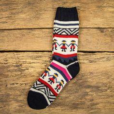 FOLK People Socks - Navy Multi