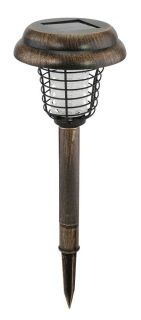 """by Smart Living Company Let the sunlight light up your nights and kill bug pests. This ingenious outdoor path light has a solar panel on top to soak up the sun's rays by day, and at night it lights up your path or yard while zapping mosquitoes and other flying pests. 5.25"""" x 5.25"""" x 15.5""""  allgooddecor.com  #allgooddecor #furniture #accents #decor #gifts #decorations #lighting #candles #mirrors #figurines #fountains #outdoor #toys"""