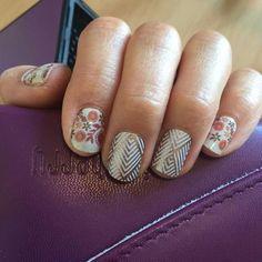 Copper glam and boho blossom Glam Nails, Cute Nails, Pretty Nails, Garra, Gel Nail Art, Nail Polish, Jamberry Nail Wraps, Jamberry Style, Shellac Nails