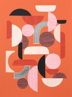 "Saatchi Art Artist Eloise Renouf; Collage, ""Curves In All The Right Places No2"" #art"
