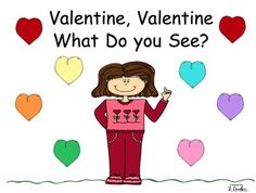 This download includes the student (smaller black and white version) ) and teacher (larger colored) versions of the Valentine's Day Sight Word Read...
