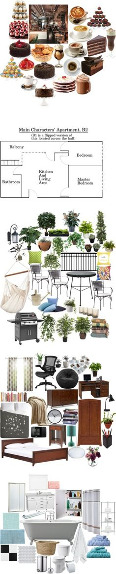 Coffee Shop AU FanFic by lynette-kenfin on Polyvore featuring fanfic, cafe, apartment, art, food, cake, coffee, coffeeshop, HotChocolate and interior