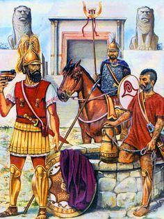 Guerreros cartagineses en tiempos de las Guerras Púnicas.  http://www.elgrancapitan.org/foro/viewtopic.php?f=87&t=16979&p=880795#p880795