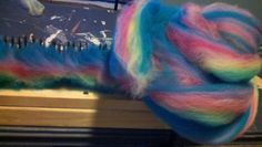 what was blended in my hackle from the solid  colors I call It - neon fish