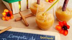 COMPOTE DE POMME CANNELLE ET ORANGE Granola, Dessert Parfait, Cantaloupe, Desserts, Orange, Food, Making Smoothies, Fruit Recipes, Basket Of Fruit