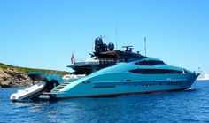 "Palmer Johnson 150 Yacht ""BLUE ICE"" in Sardinia"