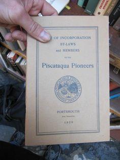 SCARCE SIGNATURE OF A.H. LAMSON PISCATAQUA PIONEERS FOUNDER 1926 ON RARE BOOK!