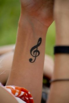 Music Notes Tattoo.
