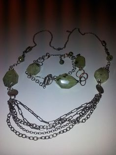 handmade /unusual stones / prehnite /beautiful by sulsolsole, on Etsy Spring Green, Green Colors, My Etsy Shop, Handmade Jewelry, Stones, Gems, Chain, Bracelets, Silver