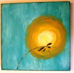 Dragonfly Painting by LiveTheChaos