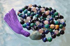 Sixth Chakra, Third Eye Chakra, 108 Mala Beads Necklace, Psychic Abili – AwakenYourKundalini