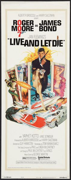 """Live and Let Die (United Artists, 1973). Insert (14"""" X 36"""").   Lot #53239   Heritage Auctions"""
