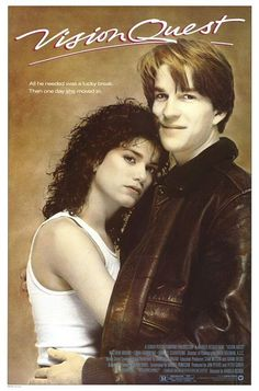 Vision Quest. A young high school wrestler decides he wants to lose down to a certain weight class to take on the best wrestler in the state. Throw in a little older female suddenly living with him and his dad and you get a sports-romance-drama. Not a bad movie. 4 of 5