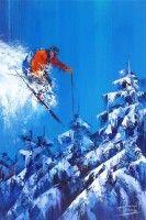 Un skieur et des sapins (pub) - Josep Teixido